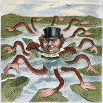 IMPERIALISM CARTOON, 1882. 'The Devilfish in Egyptian Waters.' An American cartoon from 1882 depicting John Bull (England) as the octopus of imperialism grabbing land on every continent.